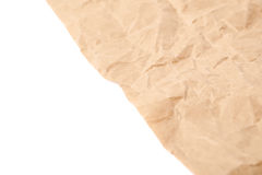 Sheet of crumbled paper Royalty Free Stock Photo