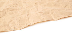 Sheet of crumbled paper Royalty Free Stock Image