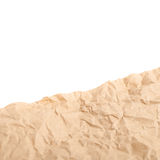 Sheet of crumbled paper Royalty Free Stock Photography