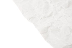 Sheet of crumbled paper Stock Image
