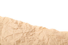 Sheet of crumbled paper Royalty Free Stock Images