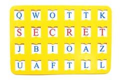 Sheet with decryption word Secret Stock Photo