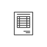 Sheet document line icon, outline vector sign. Linear pictogram isolated on white. Invoice symbol, logo illustration Royalty Free Stock Image