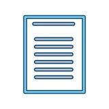 Sheet document symbol Royalty Free Stock Photography