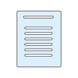 Sheet document symbol Stock Photo