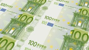 Sheet of 100 Euro banknotes Royalty Free Stock Photography