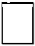 Sheet Film. One Blank Piece Of 4x5 Inch Sheet Film, Large Format Vector Illustration