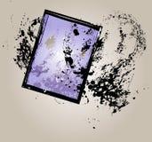 Sheet film negative. Picture frame, vector illustration Stock Image