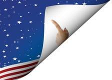 Sheet flag Stock Photo