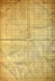 Sheet of graph on old folding grunge paper Stock Photo