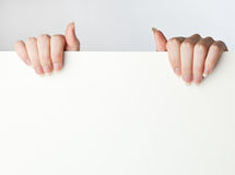 Sheet and hands Stock Photo