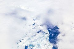 Sheet of ice floating on the arctic Royalty Free Stock Images