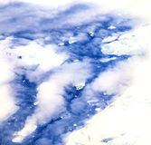 Sheet of ice floating on the arctic Royalty Free Stock Photos