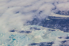 Sheet of ice floating on the arctic  ocean Stock Photos
