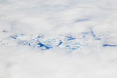 Sheet of ice floating on the arctic  ocean Stock Images