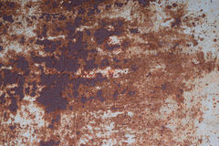 Sheet of iron rusty with the peeled-off paint. Royalty Free Stock Images
