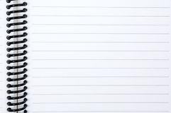 Sheet in a line. Isolated sheet in a line with a spiral Royalty Free Stock Images