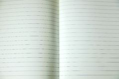 Sheet of lined note paper Stock Photography