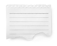 Sheet of lined paper isolated. On white background Royalty Free Stock Image