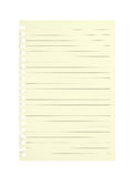 Sheet of lined paper torn from school notebook. Blank. Royalty Free Stock Photos