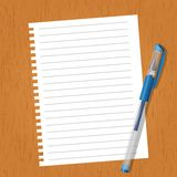 Sheet with lines and a pen Royalty Free Stock Photo