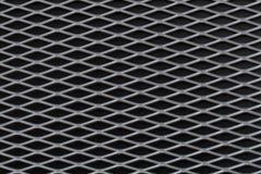 Sheet of metal. On black background Stock Image