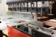 Sheet metal bending machine Stock Image