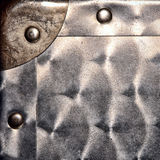 Sheet Metal Corner and Rivets Grunge Background Stock Photo