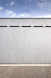 Sheet metal, corrugated wall building Royalty Free Stock Photo