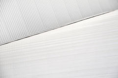 Sheet metal, corrugated wall building Royalty Free Stock Photography