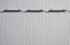 Sheet metal, corrugated wall building Stock Photo