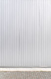 Sheet metal, corrugated wall building Stock Images