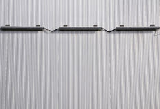 Sheet metal, corrugated wall building Royalty Free Stock Photos