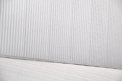 Sheet metal, corrugated wall building Stock Image