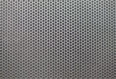 Sheet of metal covered circular holes Stock Image