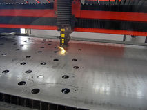 Sheet metal cutting Stock Photography