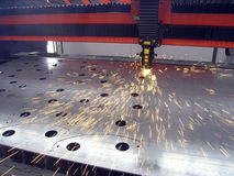 Sheet metal cutting. In the factory - sheet metal cutting Stock Photos
