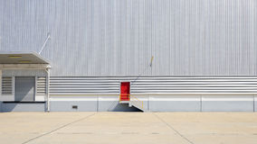 The sheet metal factory wall Royalty Free Stock Image