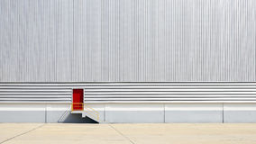 The sheet metal factory wall Stock Photography