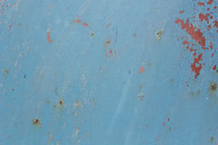 Sheet metal painted with blue paint Royalty Free Stock Image