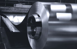 Sheet Metal. Photograph of industrial sheet metal processing machine stock photos