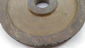 Sheet metal polishing color off some appear the rusty old.below Stock Photos