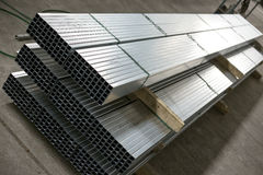 Sheet metal profiles Royalty Free Stock Images