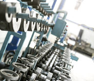 Sheet metal profiles production machine Stock Photo