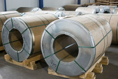 Sheet metal rolls Stock Images