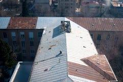 Sheet metal roofing Stock Photos