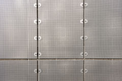 Sheet metal wall screen Royalty Free Stock Image