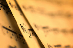 Sheet Music Royalty Free Stock Photography