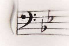 Sheet of music. Close op of a sheet of music Royalty Free Stock Photo