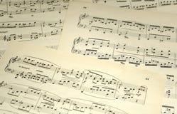 Sheet Music Stock Image